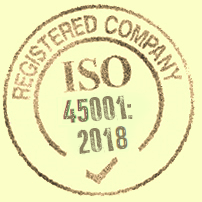 ISO 45001 Occupational Health & Safety Template Stamp