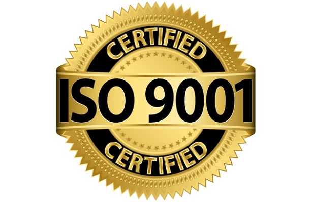 ISO 9001 certified badge