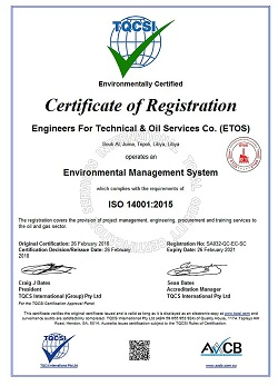 ISO Certificate of Registration Example 2