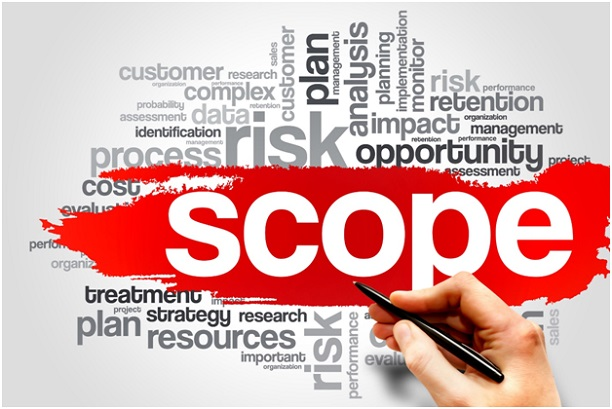 Scope ISO 9001 words